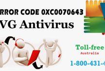 Contact 1-800-431-454 to Fix AVG Antivirus Error 0xC0070643