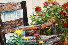 Sherry Armstrong's palette knife paintings / All palette knife oil paintings are for sale, contact me at sherryarmstrongartist@ yahoo.com / by Sherry Armstrong