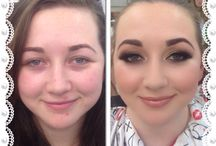 Makeover before and afters / Makeup by Leigh Blaney transformations  Before with no makeup, after with makeup, pics are untouched.