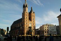 Kraków - Cracow / Polska / Poland - Kraków / Cracow  małopolska, polskie miasta, Cracow City, krakowski Rynek Główny, Sukiennice, Kościół Mariacki, Barbakan, Teatr Słowackiego