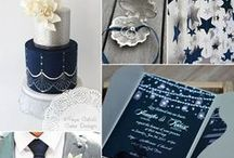 Navy Wedding Inspiration / All things navy and midnight blue for your wedding! Be inspired by color combinations with this popular blue hue. Find items in our shop to match using our Midnight Collection in navy blue as well!