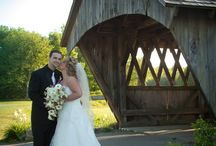 Covered Bridge / Beautiful Covered Bridge at the Foster Country Club makes for a gorgeous backdrop for wedding photos