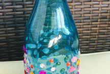 Designer glass bottles / Handmade