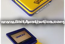 Custom Made Gameboy SPs / These are past custom orders placed! We try to fulfill any custom request!  Visit www.8bitaesthetics.com