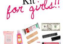 Surviving kit for kirls / Lady stuff