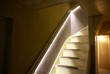 Led strip trapverlichting / Toepassing van led strips in trappen. Inspiratie door http://ledstrip-specialist.nl