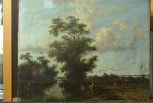 Werkfoto's - Landschappen / Restauratie van schilderijen - 17de / 18de / 19de eeuwse landschappen
