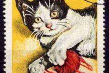 cat stamps / znaczki pocztowe z motywem kota