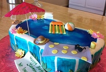 Melissa pool party cake