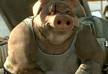One bad-ass pig