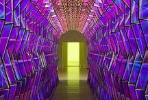 installation with light