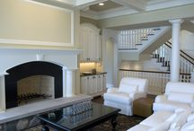 Custom Fireplaces / This is a board that exhibits the diverse amount of fireplaces Widing Custom Homes has built and is able to construct regardless of a home's square-footage.