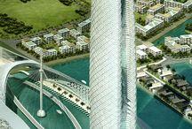 futuristic architecture
