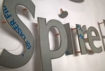 Laser Cut Brushed Steel Lettering / by Surrey Banners and Signs