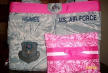 Bri & Sherry / Air Force ACU Purses. / by Kime Kinsman