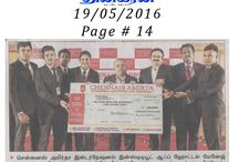 Chennais Amirta to Award Scholarships Worth Over Rs. 2 Crores / Chennais Amirta International Institute of Hotel Management, one of India's leading institutions imparting knowledge in hospitality studies, has announced scholarships worth Rs. 2 Crores today (17th May 2016). These scholarships are expected to benefit more than 2000 students.