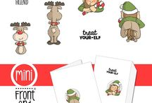 Scrapbooking Mini Elf set