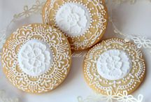 Iced biscuits - lace