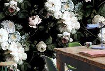 Dark floral walls
