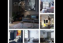 Дизайн интерьера загородного дома / Загородный дом в скандинавском стиле кухня-гостиная