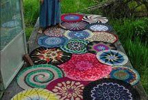 かぎ針編みのラグ