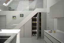 Roundhouse kitchens - under stair storage