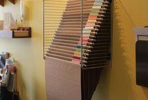 scrapbook storage and organization
