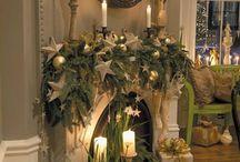 Kerst schouwen decoreren