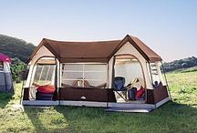 home-like tents / if tenting it were necessary, these could make it more doable.