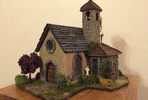 Petite Eglise superbement réalisée... / Je voulais vous faire découvrir aujourd'hui une très jolie église réalisée par l'une de mes amies, Florence, vivant sur l'Île de la Réunion, passionnée tout comme moi par les villages miniatures. Sa création est tout simplement un petit chef d'oeuvre...