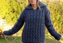 CABLE KNIT Mohair Sweaters by Extravagantza