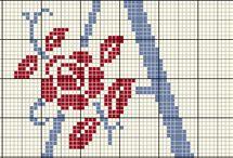 Alfabeto punto croce / Lettere e alfabeti