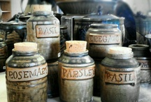 Ceramic herb jars