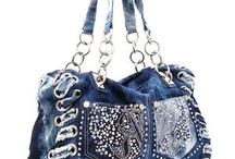 Bling denim Bags / Stunning Denim bling work
