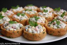 salata tarif ve sunumları