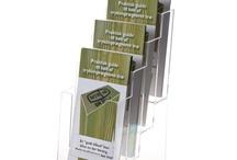 Brochure Holders - Brochureholdere - Broschyrställ / Brochure Holders and Brochure stands for table, floor and wall in A6, M65, A5, A4 and A3 format. Brochureholdere og brochurestandere til bord, gulv og væg i A6, M65, A5, A4 og A3. Broschyrställ för bord, vägg, och golv i A6 (1/3 A4), A5, A4 och A3