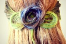 Hairups with splashes of colour / Hair
