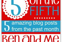 5 on the FIFTH / A monthly collection of favorite blog posts shared by the participants in the 5 on the Fifth link-up. / by Marcy (Ben and Me)