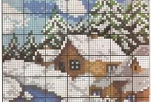 z - point de croix - Noël