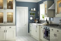 Cream & White Shaker Kitchens / A selection of understated and stylish painted cabinets.  A beautiful, timeless look for any home regardless of age.