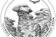 2016 America the Beautiful Quarters® Program Coin Designs / The 2016 coins honor Shawnee National Forest (Ill.), Cumberland Gap National Historical Park (Ky.), Harpers Ferry National Historical Park (W.Va.), Theodore Roosevelt National Park (N.D.), and Fort Moultrie at Fort Sumter National Monument (S.C.). / by United States Mint