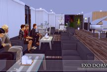 My Sims 4 Reception, Cafe' and  Bar Area (Decoration)