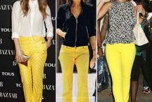 Look avec un pantalon jaune