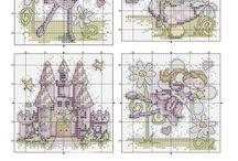 Haft krzyżykowy - Wróżki, elfy