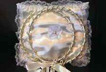 Stefana, handmade wedding crowns / Stefana , wedding crowns handmade  Made of satin and pearls