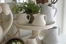 ironstone, creamware & white