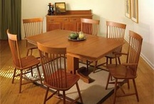 Amish Dining Tables / DutchCrafters Amish handcrafted dining room and kitchen tables are some of the finest ever produced! A solid hardwood table is an ideal way to bring elegance and warmth to your home!  The Amish place the utmost importance on family and community.  A variety of custom options allow you to create the dining table you dream of.