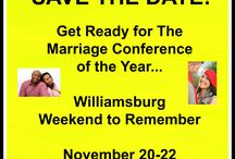 Williamsburg Weekend to Remember 2015 November 20-22 / Dexter and I are preparing for the Williamsburg Weekend to Remember. We are apart of the leadership team. We're excited and we are trying to get the word out to everyone. Whether you are in the Hampton Roads, VA area or not, take time to get away and reconnect with your spouse. Or if you've already attended and you want to volunteer, let me know. For more information, you can e-mail me at marriagewriter40@gmail.com. www.committedwife.com