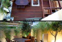 Outdoor areas covered in ,decks etc