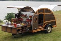 Food and drinks movable kiosk